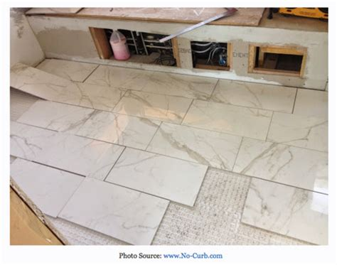 6 x 24 wall tile layout help 6 x 24 tiles are bowing