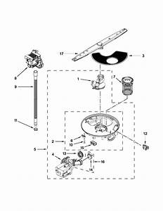 Pump  Washarm And Motor Parts Diagram  U0026 Parts List For Model Wdf310paas4 Whirlpool