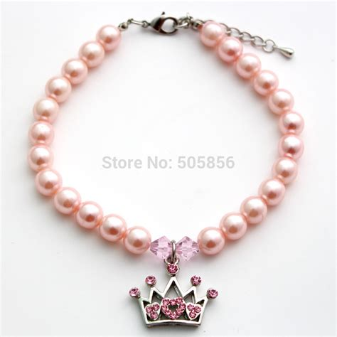 pet dog pearls necklace collar cat puppy jewelry