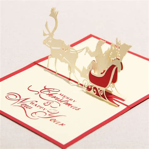 3d greeting card handmade paper crafts quot merry christmas happy new year quot 3d pop up