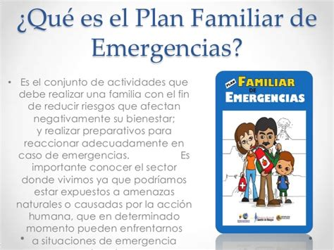 plan de emergencias familiar plan familiar