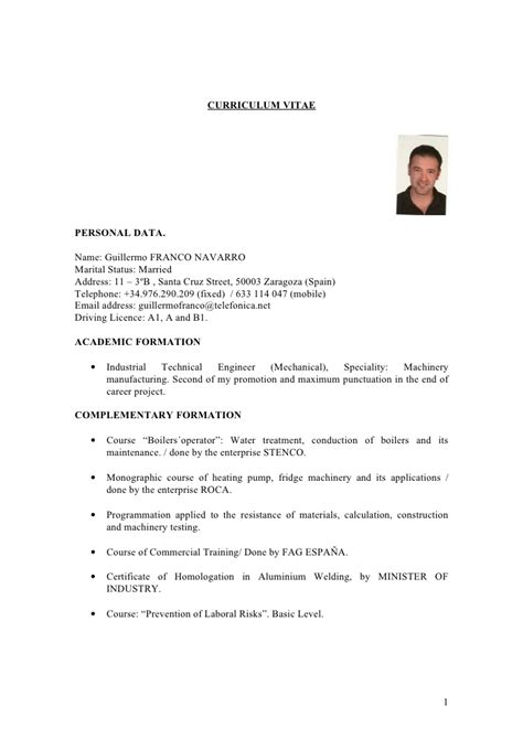 Curriculum Vitae Template Word by Curriculum Vitae Word 97 Modelo De Curriculum Vitae
