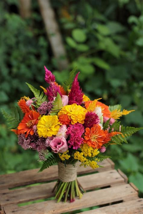 august bridesmaid bouquet     great