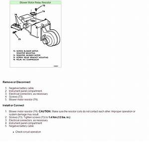 Where Is The Heater Blower Motor Resistor Located In A