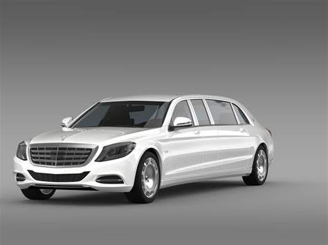 Mercedes Maybach Pullman S 600 Vv222 2016 3d Model .max