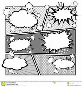 comic speech bubblesvector illustration stock vector With comic strip bubble template