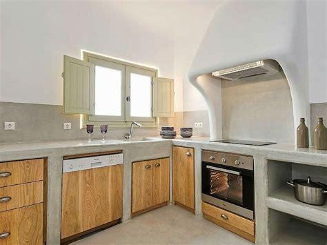 cocina cemento pulido  madera cocinasrusticascemento