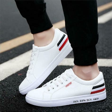 Fashion Men Leather Casual Shoes Sports Sneakers