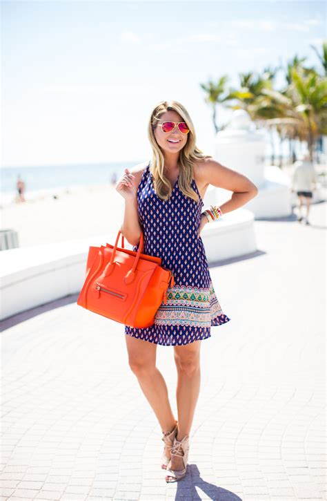 Outfit | Spring Break Print Dress - SHOP DANDY | A florida based style and beauty blog by Danielle