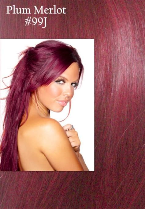 plum merlot hair color     color highlights