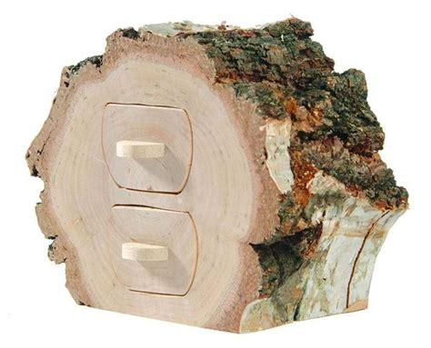 Birken Deko Holz by Birke Mit 2 Schubladen Holz Deko Baumstamm Ebay