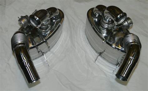 porsche  nhp exhaust mufflers  sound valves