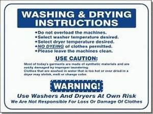 L441  U0026quot Washing And Drying Instructions  U0026quot  Model Number L441