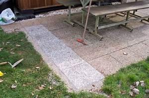 terrasse et chevrons bienvenue sur etang et chalet With peindre des dalles de terrasse