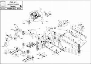Horizon Fitness T101 Exploded Diagram