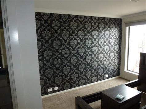 black wallpaper feature wall gallery