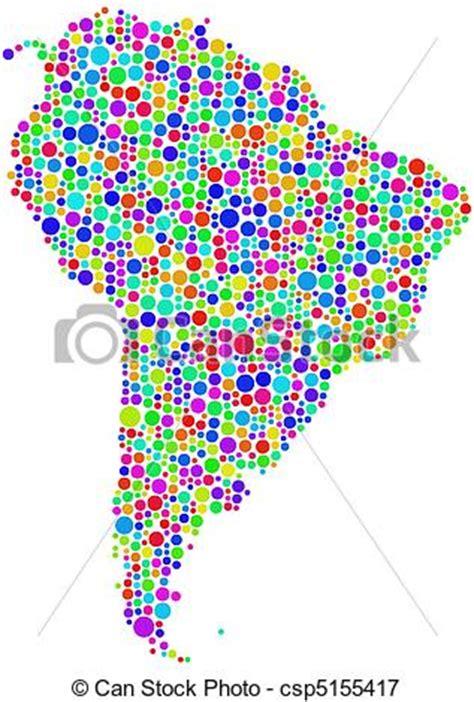vectors illustration  map  latin america  figure