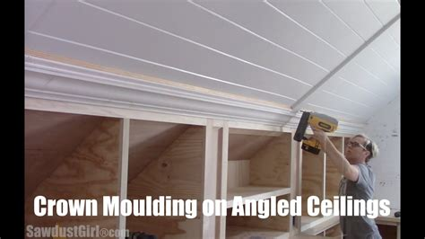crown moulding  angled ceilings youtube
