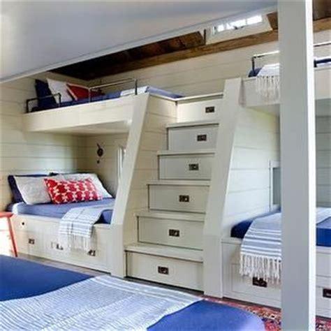 37291 built in bunk beds bunk bed steps country bedroom crestin design