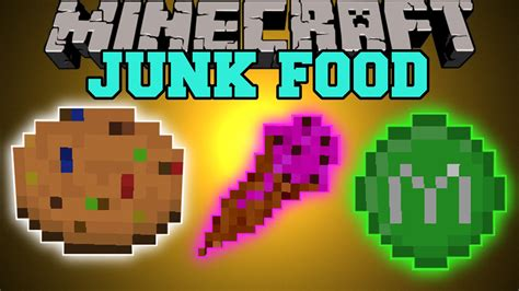mod鑞es cuisine minecraft junk food eat to become unstoppable mod showcase