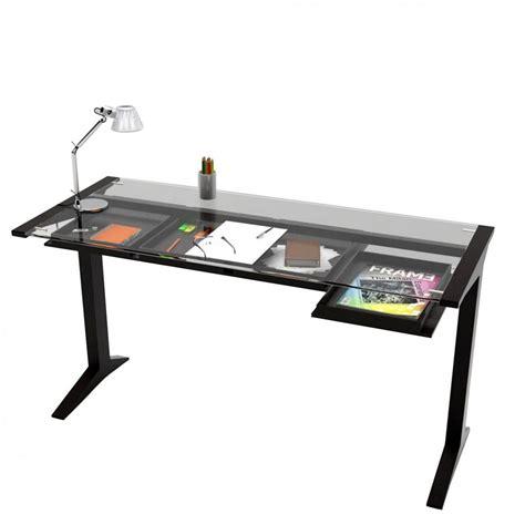 plateau de bureau en verre leo bureau valsecchi en bois plateau en verre 140 x 60
