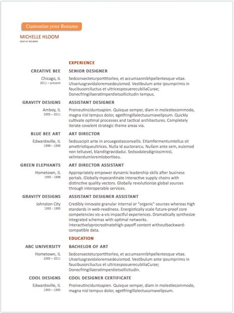 Resume Word Templates by 20 Free Resume Word Templates To Impress Your Employer