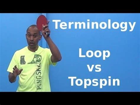 table tennis forehand topspin  backspin lesson
