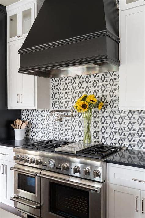black  white kitchen colors transitional kitchen