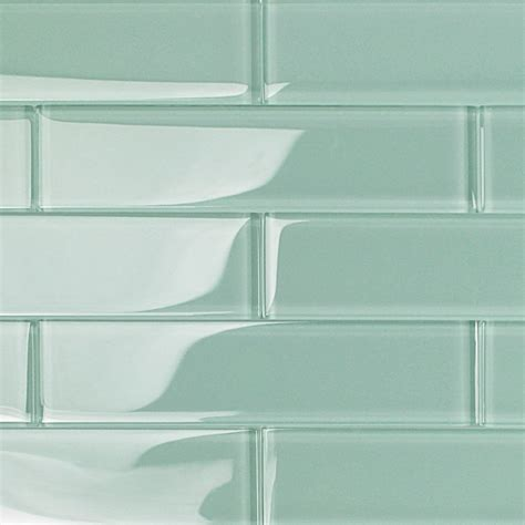 2x8 subway tile bathroom shop for loft adriatic mist 2x8 polished glass tiles at