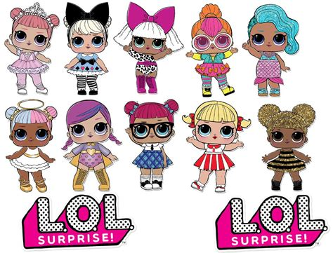 Lol Surprise! Dolls And Logos Assorted Edible Cake Toppers