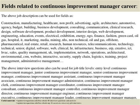 Continuous Improvement Manager Resume Objective by How To Prepare Resume For Freshers In Engineering 10000 Cv And Resume Sles With Free
