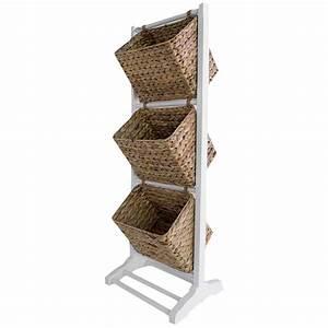 3, Tier, Wood, Basket, Rack