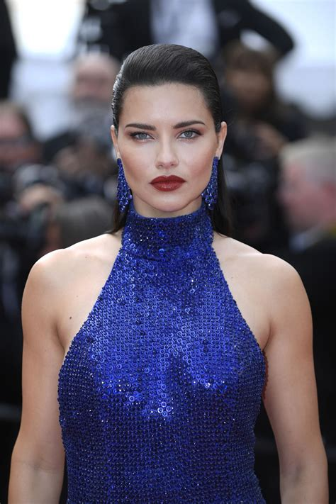 Adriana Lima Mercy Red Carpet Cannes Film Festival