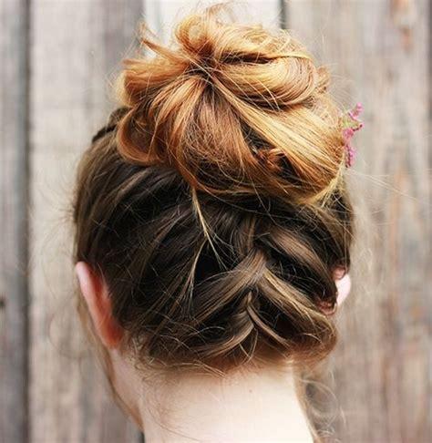 hair bun styles for medium hair 60 easy updo hairstyles for medium length hair in 2018