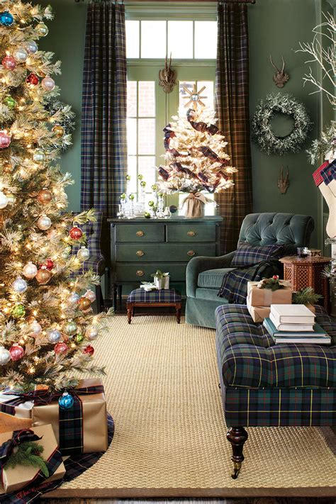 plaid christmas home decor
