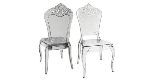 chaises en plexiglas chaise astorga design en plexi transparent mobilier moss