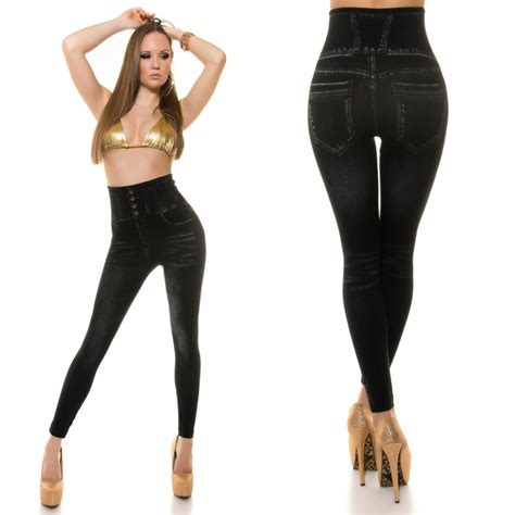 Check spelling or type a new query. Leggings femme effet jeans taille haute LEANE couleur noir