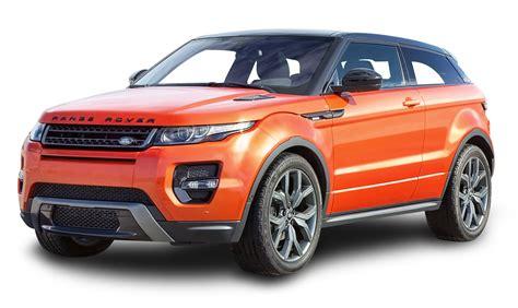 car range range rover evoque orange car png image pngpix