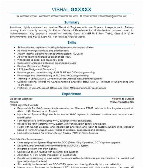 1498 electrical and electronic engineers cv exles