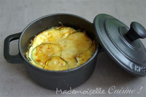cuisine courgettes gratin gratin de courgettes en mini cocottes mademoiselle cuisine