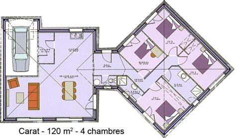maison plein pied 4 chambres plan maison 100m2 modle premium plainpied plan maison