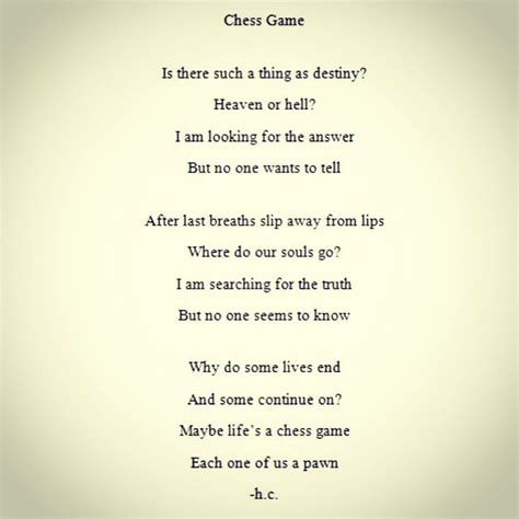chess game poem poems poems quotes chess