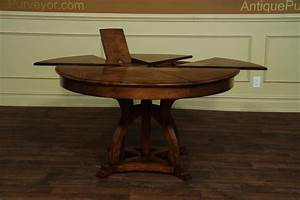solid walnut round arts and crafts expandable dining room With round expandable dining room table