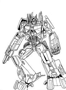 Transformers Optimus Prime Coloring Pages Printable