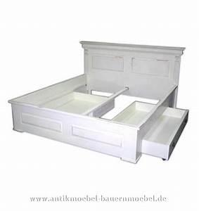 Doppelbett Weiß Holz : doppelbett wei landhaus ~ Indierocktalk.com Haus und Dekorationen