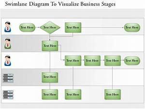 0814 Business Consulting Diagram Swimlane Diagram To Visualize Business Stages Powerpoint Slide