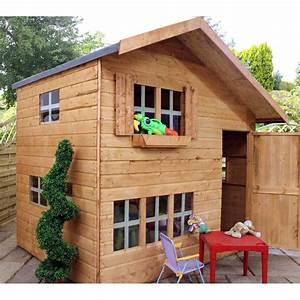 Cabane En Bois Castorama : mercia kids 8x6 double storey wooden playhouse kids ~ Dailycaller-alerts.com Idées de Décoration