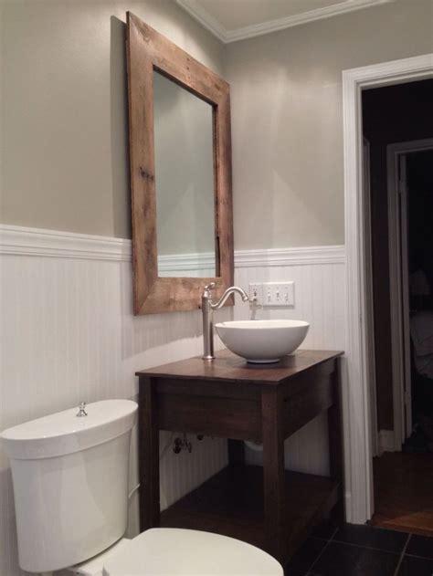 custom rustic reclaimed wood vanity  mirror pallet ideas  reclaimed wood furniture