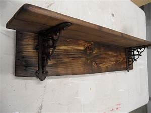 Rustic barnwood style shelf primitive wall by LynxCreekDesigns