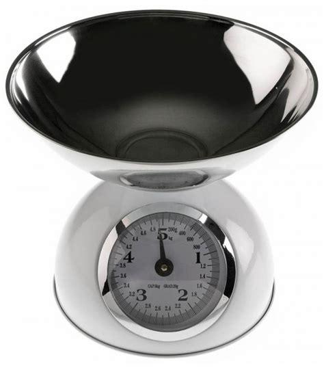 balance de cuisine métallique rétro noir et chrome